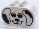 Part No: 4198pb07  Name: Duplo, Brick 2 x 4 x 2 Rounded Ends with Dog Face Type 1 (colored) Pattern