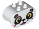 Part No: 4198pb32  Name: Duplo, Brick 2 x 4 x 2 Rounded Ends with Panda Bear Face Pattern