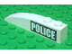 Part No: 42022pb13L  Name: Slope, Curved 6 x 1 with White 'POLICE' on Black Background Pattern Left (Sticker) - Set 7899