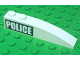 Part No: 42022pb13R  Name: Slope, Curved 6 x 1 with White 'POLICE' on Black Background Pattern Right (Sticker) - Set 7899