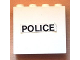 Part No: 4215apb10  Name: Panel 1 x 4 x 3 - Solid Studs with Black 'POLICE' on White Background Pattern (Sticker) - Set 6676