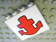 Part No: 4215bpb38  Name: Panel 1 x 4 x 3 - Hollow Studs with Red Anchor Pattern (Sticker) - Set 3832