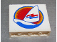 Part No: 4215pb007  Name: Panel 1 x 4 x 3 with Surfboard and Sail Pattern (Sticker) - Set 6595