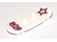 Part No: 42511pb07  Name: Minifigure, Utensil Skateboard with Trolley Wheel Holders with Black and Dark Pink Winged Heart and Star with Skull Pattern