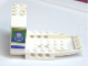 Part No: 42600pb01  Name: Aircraft Fuselage Angular Forward Section 6 x 10 x 5 (Cockpit) with Blue and Green Window Pattern on Both Sides (Stickers) - Set 4620