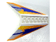 Part No: 42603pb02  Name: Tail 10 x 10 x 4 Dual with Blue Arrow, Dot Fade Pattern
