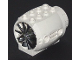 Part No: 43121c01  Name: Engine, Large, with Chrome Silver Center (43121 / x577)