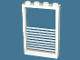 Part No: 4347pb04  Name: Window 1 x 4 x 5 with Fixed Glass and 9 White Stripes Pattern (Sticker)