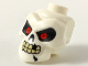 Part No: 43693pb01  Name: White Minifigure, Head Modified Skull with Red Eyes, Cracks and Missing Tooth Pattern