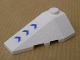 Part No: 43710pb03  Name: Wedge 4 x 2 Triple Left with Three Blue Arrows Pattern (Sticker) - Set 7700