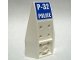 Part No: 43713pb01  Name: Wedge 6 x 4 Inverted Curved with 'P-32 POLICE' Pattern (Sticker) - Set 7741