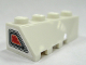 Part No: 43720pb01  Name: Wedge 4 x 2 Sloped Right with Jet Exhaust Pattern on narrow end (Sticker) - Set 7695