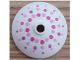 Part No: 43898pb007  Name: Dish 3 x 3 Inverted (Radar) with Bright Pink and Magenta Dots Pattern (41307)