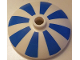 Part No: 43898pb009  Name: Dish 3 x 3 Inverted (Radar) with Blue Stripes Pattern