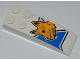 Part No: 44126pb027L  Name: Slope, Curved 6 x 2 with Half Blue Star and Dog Head Pattern Model Left (Sticker) - Set 7970