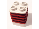 Part No: 44252pb02  Name: Duplo Brick 2 x 2 x 2 Ribbed Flexible with Dark Red Fins Pattern