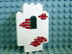 Part No: 4444p06  Name: Panel 2 x 5 x 6 Wall with Red Bricks Scattered Pattern