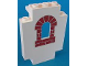 Part No: 4444pb01  Name: Panel 2 x 5 x 6 Wall with Red Bricks Window Pattern