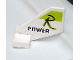 Part No: 44661pb013  Name: Tail Shuttle, Small with Black 'R POWER' on Lime Pattern both sides (Stickers) - Set 8139