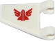 Part No: 44676pb012  Name: Flag 2 x 2 Trapezoid with Red Space Shuttle with Wings Galaxy Squad Logo Pattern (Sticker) - Set 70702