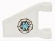 Part No: 44676pb025L  Name: Flag 2 x 2 Trapezoid with White and Blue Zane Symbol Pattern Model Left Side (Sticker) - Set 70724
