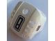Part No: 44790pb09  Name: Hockey Helmet with NHL Logo Both Sides, Black Number 8 and Orange Stripe Pattern (Stickers) - Set 3541