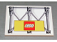 Part No: 4515pb009  Name: Slope 10 6 x 8 with Girders and Lego Logo Pattern (Sticker)