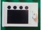 Part No: 4533pb006  Name: Container, Cupboard 2 x 3 x 2 Door with Black Square and 4 Black Circles (Oven) Pattern (Sticker) - Set 6370