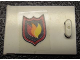 Part No: 4533pb008R  Name: Container, Cupboard 2 x 3 x 2 Door with Fire Logo Pattern Model Right (Sticker) - Set 7239