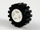 Part No: 4624c02  Name: Wheel 8mm D. x 6mm with Black Tire 15mm D. x 6mm Offset Tread Small (4624 / 3641)