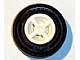 Part No: 4624c05  Name: Wheel 8mm D. x 6mm with Black Tire 14mm D. x 4mm Smooth Small Single with Number Molded on Side (4624 / 59895)