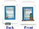 Part No: 4691cdb02  Name: Plastic, Backdrop for Set 4691 with Window and Plant
