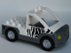 Part No: 47438c01pb01  Name: Duplo Truck Pickup Flatbed with Dark Bluish Gray Base with Zebra Stripes Pattern