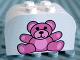 Part No: 4744px17  Name: Brick, Modified 2 x 4 x 2 Double Curved Top with Teddy Bear Pattern