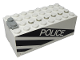 Part No: 4760c01pb01  Name: Electric 9V Battery Box Small with 'POLICE' and Black Stripes Pattern