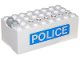 Part No: 4760c01pb07  Name: Electric 9V Battery Box Small with 'POLICE' Pattern on Both Sides (Stickers) - Set 6450