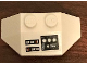 Part No: 47759pb14  Name: Wedge 2 x 4 Triple with SW Instrument Panel with White Circles Pattern (Sticker) - Set 75244