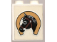 Part No: 4864apb002  Name: Panel 1 x 2 x 2 - Solid Studs with Horseshoe and Black Horse Head Pattern (Sticker) - Set 6359