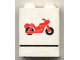 Part No: 4864apx9  Name: Panel 1 x 2 x 2 - Solid Studs with Red Motorcycle and Black Line Pattern