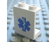 Part No: 4864bpb033  Name: Panel 1 x 2 x 2 - Hollow Studs with Blue EMT Star of Life Pattern (Sticker) - Set 7890