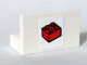 Part No: 4865pb015  Name: Panel 1 x 2 x 1 with Red 2 x 2 Brick Pattern (Sticker) - Set 4032-1