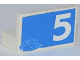 Part No: 4865pb050L  Name: Panel 1 x 2 x 1 with White Number 5 on Blue Background Pattern Model Left Side (Sticker) - Set 1750
