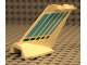 Part No: 4867pb07  Name: Tail Wedge with Light Blue & Green Stripes Pattern on Both Sides (Stickers) - Set 2532