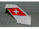 Part No: 4867pb14  Name: Tail Wedge with SWISS Air Logo Pattern on Both Sides (Stickers)