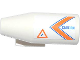 Part No: 4868bpb007R  Name: Engine, Smooth Large, 2 x 2 Thin Top Plate with Orange and Blue V-Shaped Stripes, 'CAUTION' and Danger Sign Pattern Model Right (Sticker) - Set 60013
