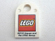 Part No: 48995pb07  Name: Tile, Modified 3 x 2 with Hole with Lego Logo Small and '©2013 Viacom and the LEGO Group.' Pattern