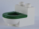 Part No: 4911c04  Name: Duplo Furniture Toilet with Green Rim