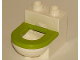 Part No: 4911c06  Name: Duplo Furniture Toilet with Lime Rim