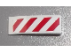 Part No: 50950pb056L  Name: Slope, Curved 3 x 1 with Red and White Danger Stripes Pattern Model Left Side (Sticker) - Set 60003
