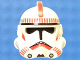 Part No: 50995pb06  Name: Minifigure, Headgear Helmet SW Clone Trooper Ep.3 Pattern with Red Stripe / Red Mouth Markings